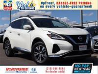 Pearl White Tricoat 2019 Nissan Murano SV FWD CVT with