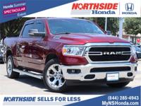 CARFAX One-Owner. Red 2019 Ram 1500 Big Horn/Lone Star