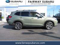 Certified. 2019 Subaru Forester Limited Jasper Green