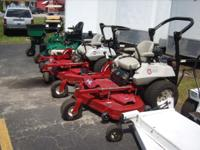I carry a complete line of Commercial grade riding Lawn