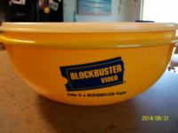 "Tupperware bowl, 12"" 26 cup with the blockbuster logo ("