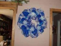 Beautiful deco mesh wreaths made to order, if I don't
