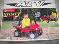 UTILITY ATV FOOT TO FLOOR RIDING TOY SELLS FOR UP TO