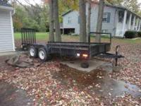 For sale is 16' trailer. It has a brand new jack and