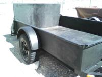Heavy duty all metal 6X8 ft. trailer. Heavy duty one