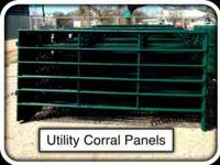 5' x 10' Utility Corral Panel $39 each. 50' Round Pen