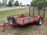 Utility Trailer: Nice Shape & Heavy Duty 15? ?D? rated