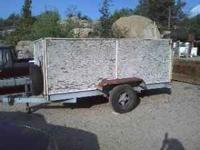 Single axle 5x10 foot bed with sides and permanent
