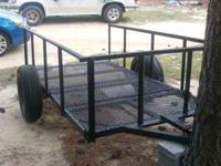 4x8 all steal utility trailer for sale. Trailer has