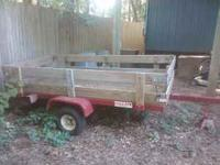 "4' x 8' UTILITY TRAILER, TILT BED, 15"" WHEELS."