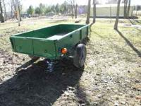 5;x8' Heavy Duty Trailer with metal