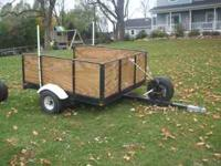 NICE HEAVY DUTY MID SIZE TRAILER: 5' X 6' WITH TWO INCH