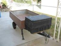 SMALL UTILITY TRAILER FOR SALE THE ALUMINUM BOX IS 6'L