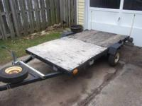 4 FT WIDE X 8FT UTILITY TRAILER , SINGLE AXLE,HAS