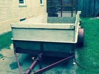 Steel Frame Trailer with New Treated 2 x 6 Runners with
