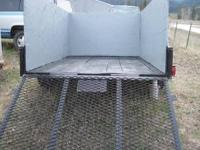 NICE UTILITY TRAILER with SIDE WALLS and REAR GATE