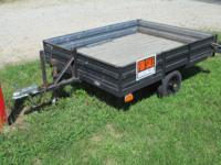 Good utility trailer for hauling trimmers, lawnmower,