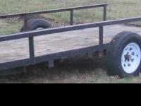 5x14 utility trailer, new tires and wheels, homemade