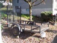 5x8 Utility trailer with large gate. Full size rims