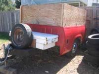 Nice utiility trailer. GM short box converted into a