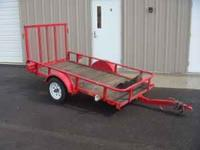 Big Tex 4 ft x 8 ft flat bed utility trailer with fold
