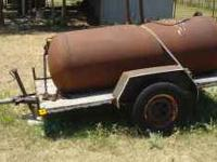 5x8 single axle trailer, straight axle with springs 1