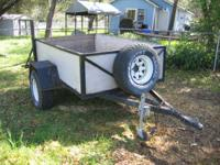 5X8 utility trailer for sale in good shape good tires,