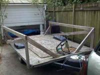 6 x 8 utility trailer. Very large bed and can carry