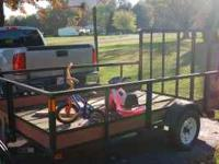 6x10 Utility Trailer 2 new tires and axle is straight
