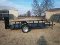 New black 6x12 trailer, treated wood floor , dove tail,