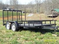 Very good 6x14 utility trailer with fold down gate on