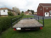 "Utility Trailer 7' x 14' bed. 2"" ball Rear or side"