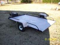 5 X 8 utility trailer, solid diamond plate bed and
