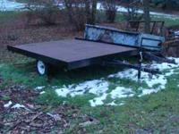 8.5 x 10 foot tilit utility trailer well built. Good 13