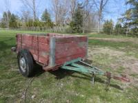 This utility trailer is excellent for hauling locally.