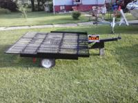 HOMEMADE TILT BED UTILITY TRAILER WITH CABEL WENCH