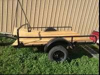 8 x 6 1/2 Utility trailer. New paint, New wood floor,