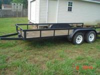 "6' 6""x 16' utility trailer.7000 pounds GVWR. 5500"