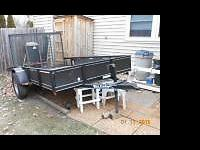 Rice Utility Trailer Model 7610 6X10 with 3,500# Axle.