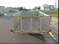 This is a 12X6 metal frame wood trailer. We have used