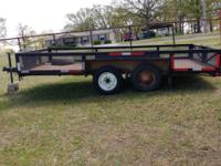 "14'X88"" Metal floor,2 new tires and two spare tires.18"