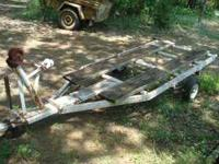 for sale is a small dump trailer it measures 8 ft bed
