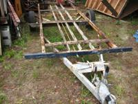 This is the frame to a utility trailer that was a pop