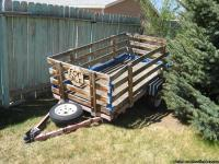4X8 utility trailer. Has all the side boards and bottom