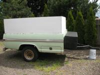 Utility Trailer made from 3/4 Ton Ford Pickup Bed for