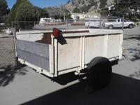 strong steel sided trailer wood deck large about 8 ft