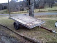 for sale is a utility trailer the bed is 4ft 10in wide