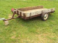 4.X9.5 DECK.,NICE TILT BED TRAILER .i am firm on the