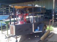 Utility Trailer with hitch and attached oil lubricated
