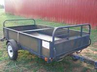NIce utility trailer. Has two panels, front and back,